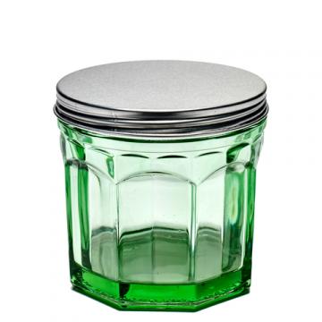Bocal en verre avec couvercle à vendre au concept-store L'Échappée Belle à Quimperlé.