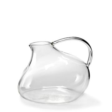Carafe 5° en verre blanc transparent à vendre au concept-store L'Échappée Belle à Quimperlé.