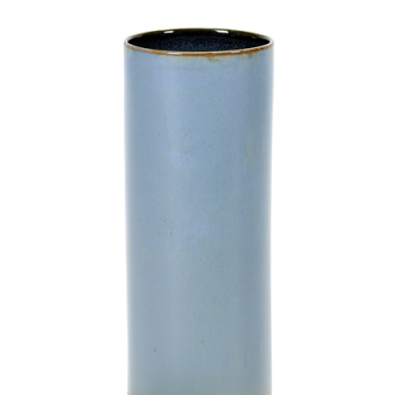 Vase tuba Anita smockey blue à vendre au concept-store L'Échappée Belle à Quimperlé.